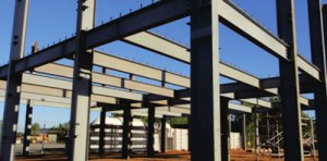 Structure steel warehouse