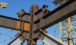 Steel structure cross column