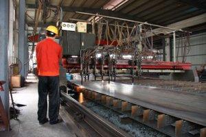 Plasma cutting industrial application