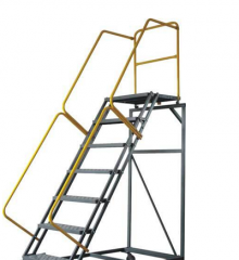 Crane stairs, winding stairs, and armrest